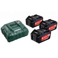 Базовый комплект METABO 3 x 18 В/5,2 А-час акумулятора +  1 x зарядное устройство ASC 30 – 36 В/5,2 A-час (685048000)